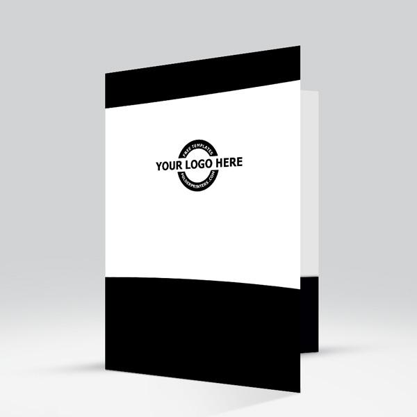 Presentation Folder Black View-2