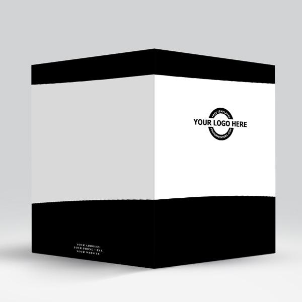 Presentation Folder Black View-3