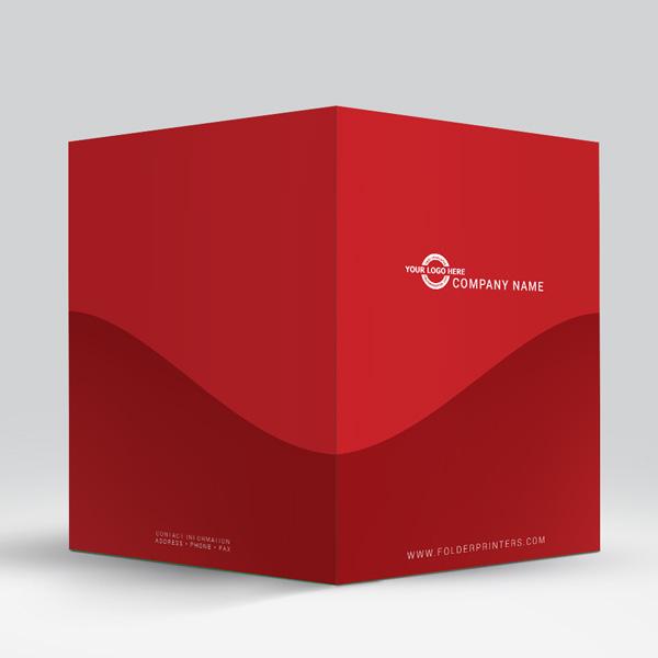 presentation folder rolling hills red