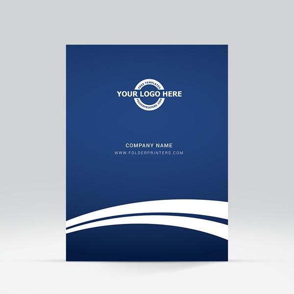 fast design presentation folder blue