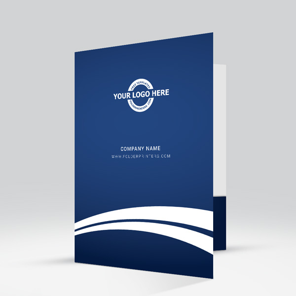 fast design presentation folder blue