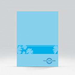 Flower Presentation Folder Blue-view-1