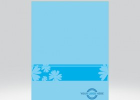 Flower Presentation Folder Blue-view-1
